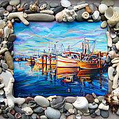 Картины и панно handmade. Livemaster - original item Oil painting. Boats. Handmade.