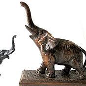 Винтаж handmade. Livemaster - original item Collectible Figurine Elephant Vintage Style as Kasli Cast Iron. Handmade.