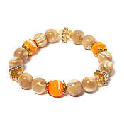 Фен-шуй и эзотерика handmade. Livemaster - original item Bracelet made of natural stones mother-of-pearl