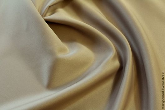 Шитье ручной работы. Ярмарка Мастеров - ручная работа. Купить Плащевая  ткань Бежево-кремовая  Италия. Handmade. Бежевый