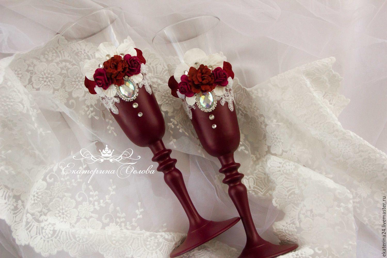 Свадебные бокалы, Бокалы, Уфа, Фото №1