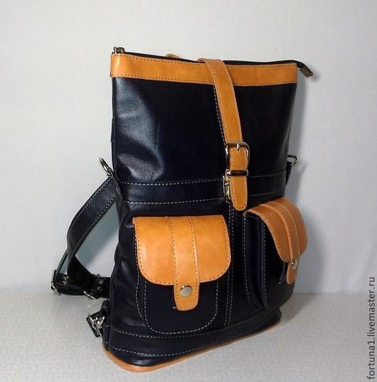Рюкзаки ручной работы. Ярмарка Мастеров - ручная работа. Купить Рюкзак-сумка кожаный 31. Handmade. Рюкзак кожаный, рюкзачок