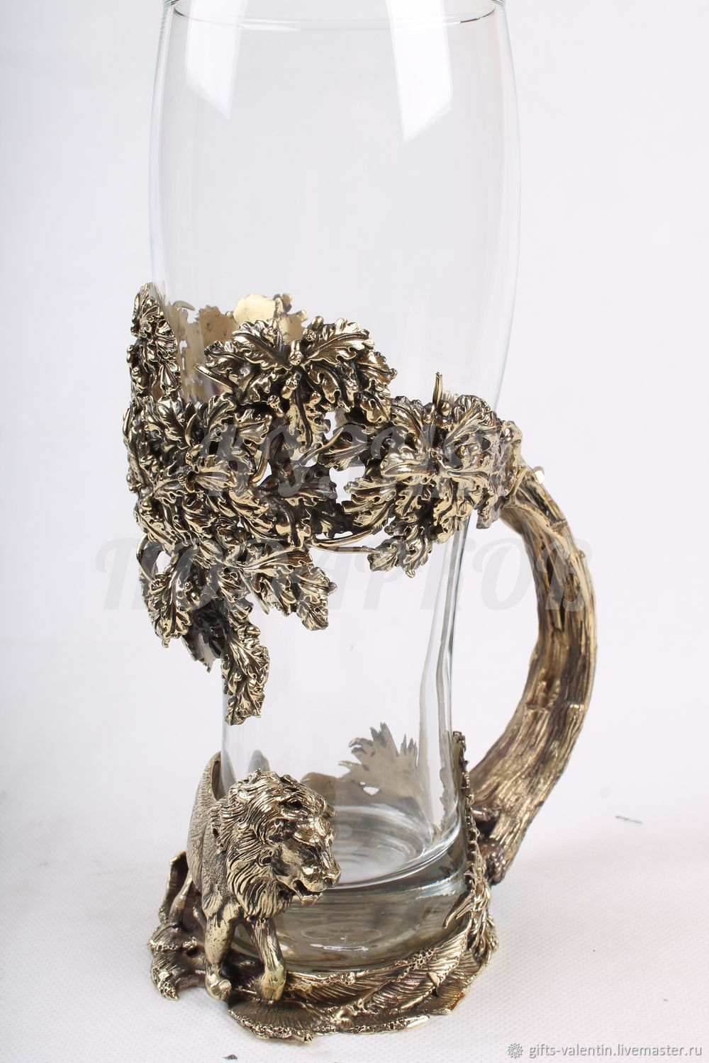 Beer glass 'the lion», Gifts for hunters and fishers, Vacha,  Фото №1