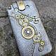 """Для телефонов ручной работы. Ярмарка Мастеров - ручная работа. Купить чехол для телефона """"Приятности"""" в стиле стимпанк. Handmade. Серебряный"""