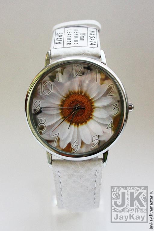 """Часы ручной работы. Ярмарка Мастеров - ручная работа. Купить Часы наручные JK """"Ромашка"""". Handmade. Цветок, наручные часы"""