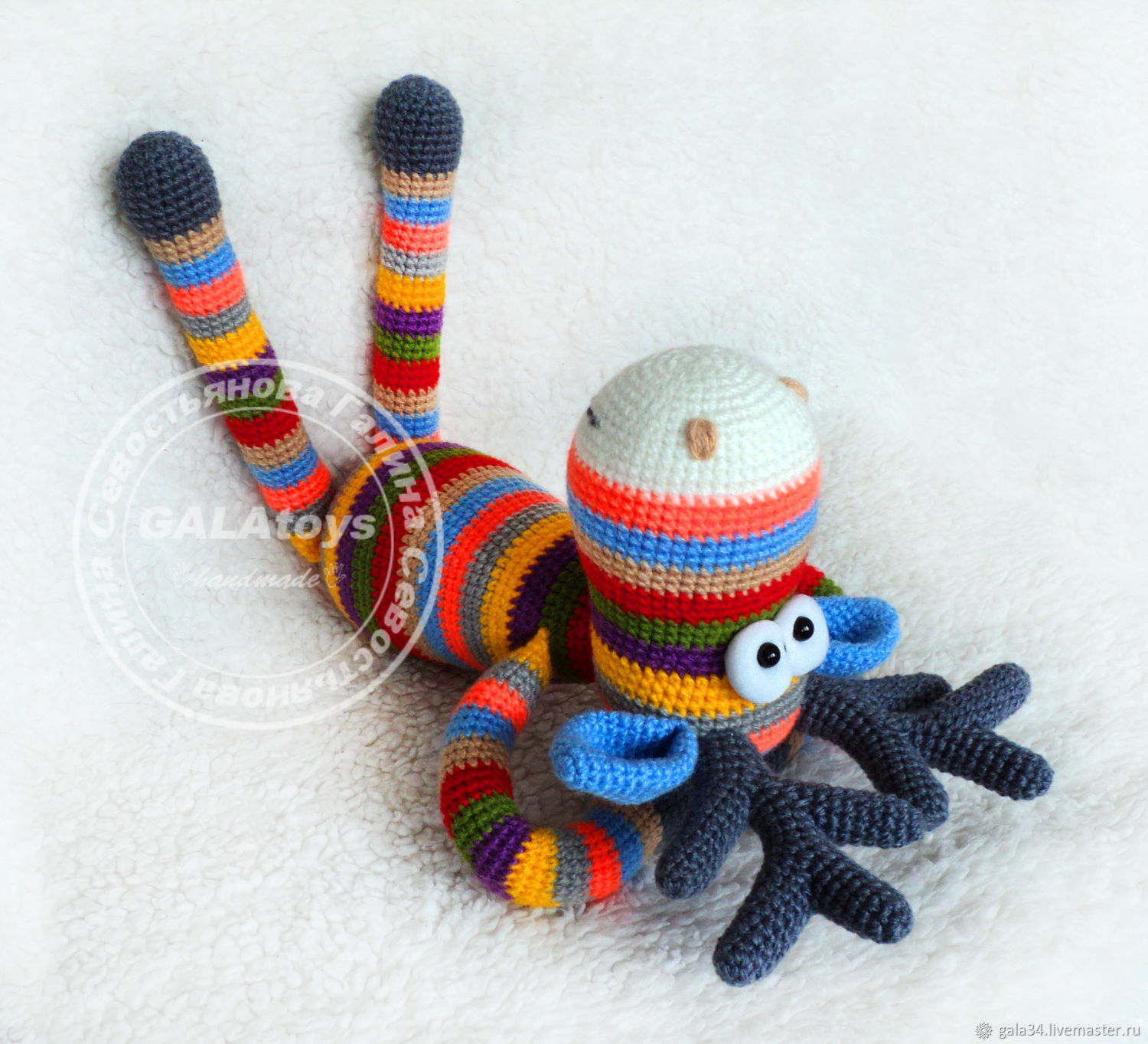 Buy Rainbow Moose knitted toy on Livemaster online shop