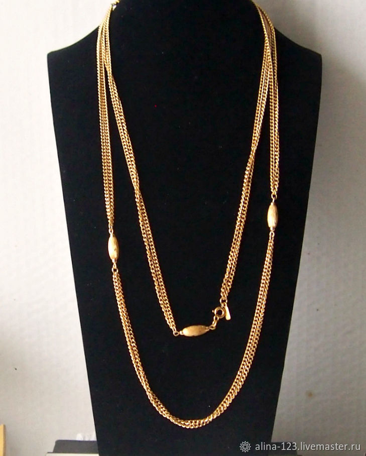 Long chain necklace from Monet, Vintage necklace, Obninsk,  Фото №1