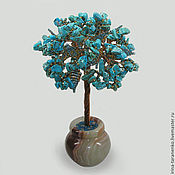Цветы и флористика handmade. Livemaster - original item Wood turquoise