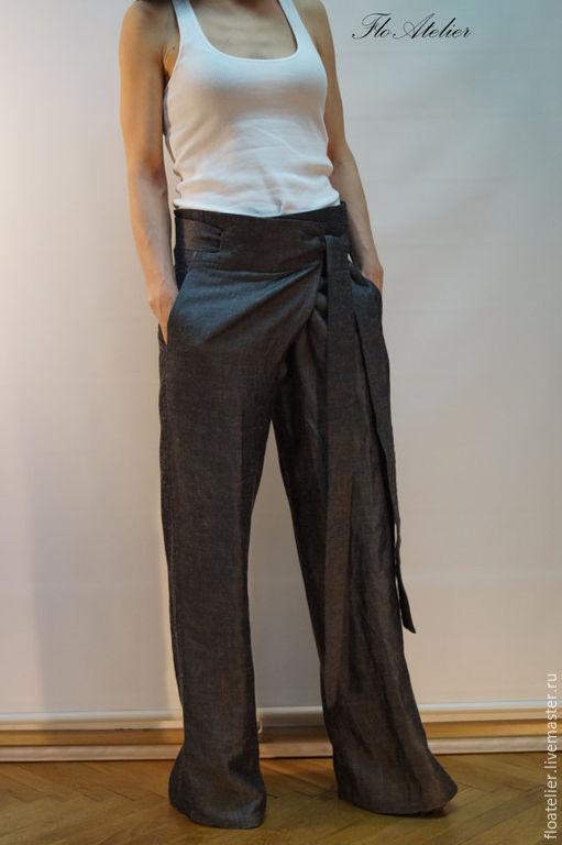 Брюки, шорты ручной работы. Ярмарка Мастеров - ручная работа. Купить Свободные брюки/Повседневные шаровары/F1206. Handmade. Темно-серый, шаровары