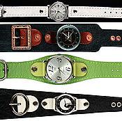 Украшения ручной работы. Ярмарка Мастеров - ручная работа Кожаные браслеты для часов. Handmade.