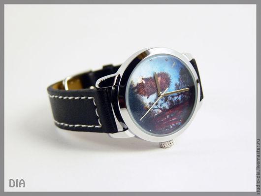 Часы. Наручные Часы. Часы Ежик В Тумане. Оригинальные Дизайнерские Часы Ежик В Лесу. Студия Дизайнерских Часов.