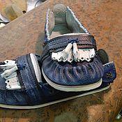 Обувь ручной работы. Ярмарка Мастеров - ручная работа мокасины мужские. Handmade.