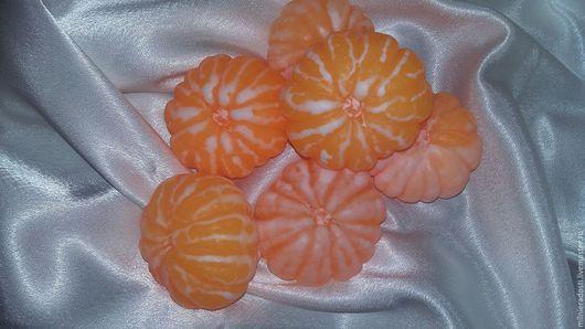 """Мыло ручной работы. Ярмарка Мастеров - ручная работа. Купить Мыло """"Мандарин очищенный"""". Handmade. Оранжевый, мыло, для ванной комнаты"""