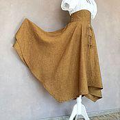 Одежда handmade. Livemaster - original item Swing skirt made of linen Bronze. Handmade.
