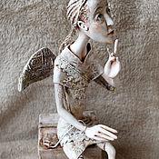 Куклы и пупсы ручной работы. Ярмарка Мастеров - ручная работа Кукла интерьерная ангел мудрости и интуиции. Handmade.