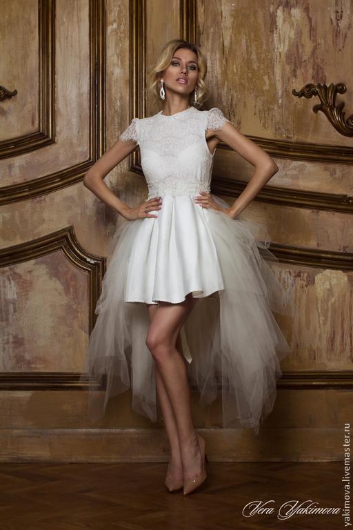 """Платья ручной работы. Ярмарка Мастеров - ручная работа. Купить Платье VERA YAKIMOVA BRAND """"Candy sweet"""". Handmade. Белый"""
