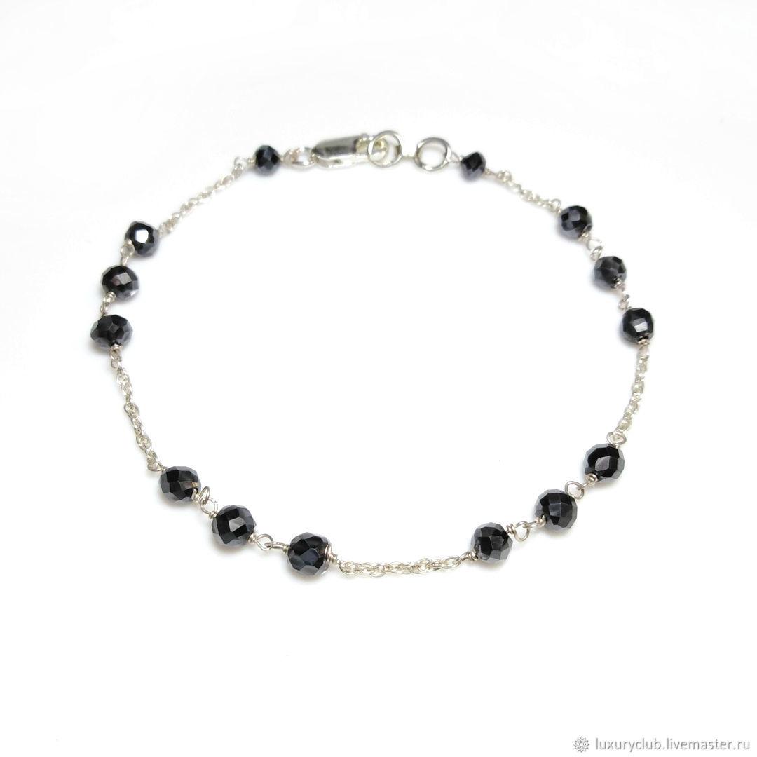 Black diamonds bracelet buy, Necklace, Tolyatti,  Фото №1