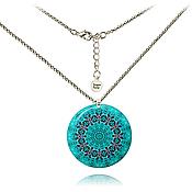 Украшения handmade. Livemaster - original item Pendant turquoise mandala boho chic