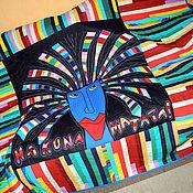 Для дома и интерьера ручной работы. Ярмарка Мастеров - ручная работа детское пэчворк одеяло HAKUNA MATATA !(центральное панно - аппликация). Handmade.