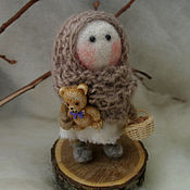 Куклы и игрушки ручной работы. Ярмарка Мастеров - ручная работа Марусенька. Кукла из войлока. Handmade.