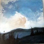 Картины и панно handmade. Livemaster - original item Cloud. Handmade.