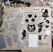 Инструменты для скрапбукинга ручной работы. Ярмарка Мастеров - ручная работа Набор ножей для вырубки Алиса в Стране чудес, 14 штук, Scrapfriend. Handmade.