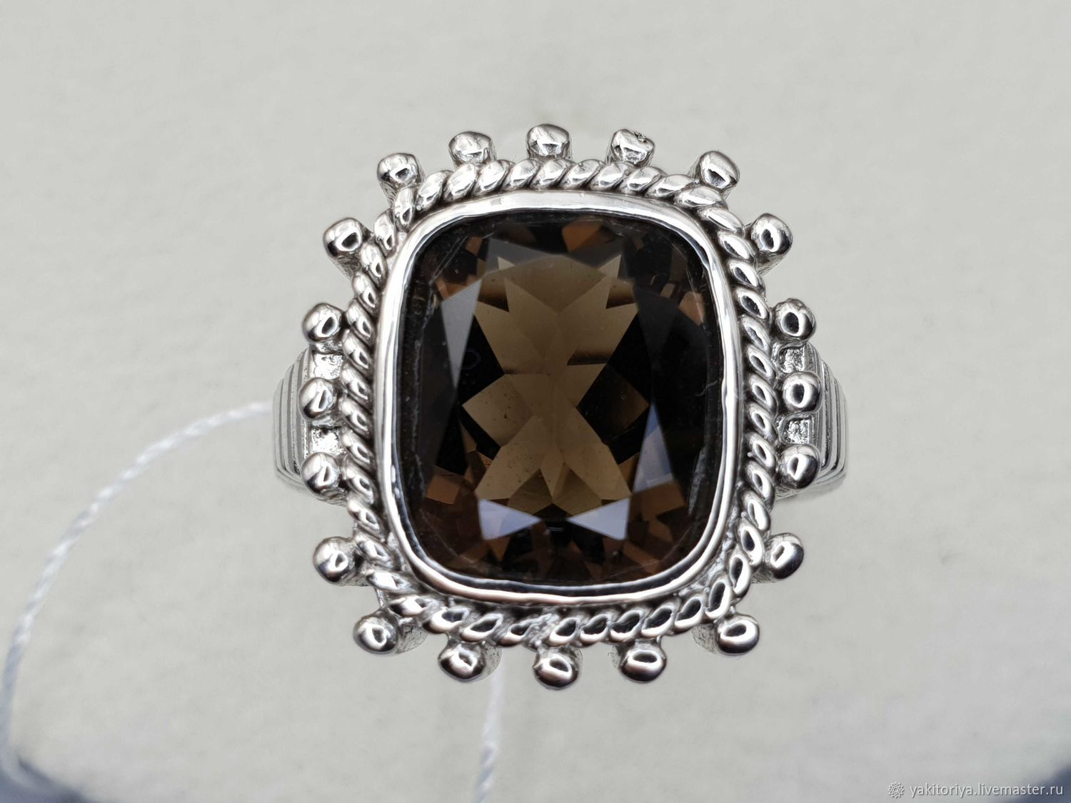 Silver ring with rauchtopaz 12h11 mm, Rings, Moscow,  Фото №1