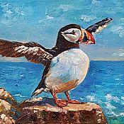 Картины и панно handmade. Livemaster - original item The picture bird Atlantic puffin. Handmade.