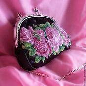 сумка с вышивкой Розовый сад
