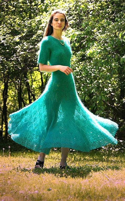 Платье из мохера фото выглядел