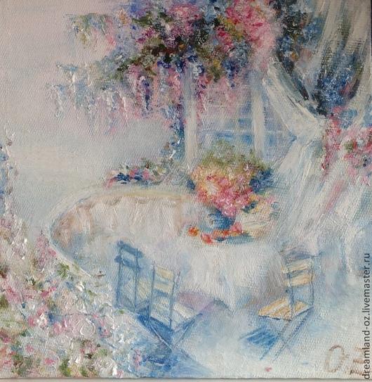 """Картины цветов ручной работы. Ярмарка Мастеров - ручная работа. Купить картина маслом """" Sweet home"""". Handmade. Белый"""