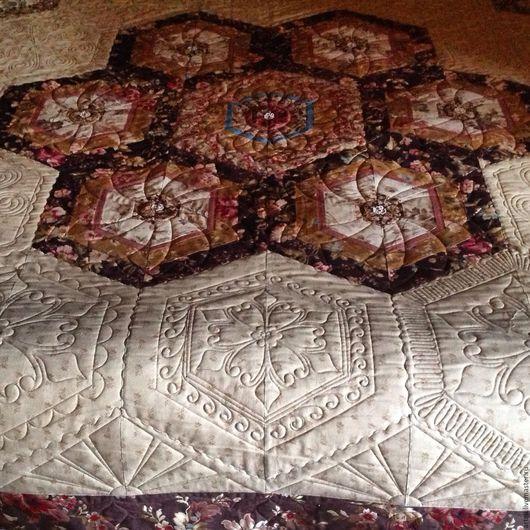 """Текстиль, ковры ручной работы. Ярмарка Мастеров - ручная работа. Купить """" Бабушкин сад """" стеганое покрывало. Handmade."""