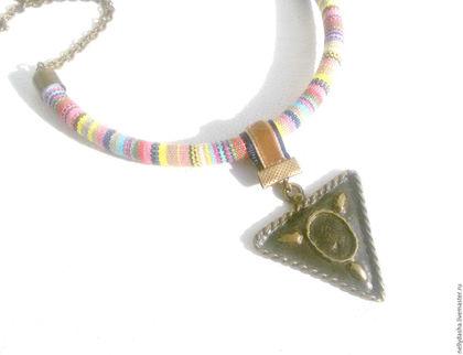 Колье крупное Колье купить Колье под шейку Этнические украшения Этно стиль Колье подарок для девушки женщины