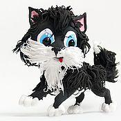 """Мягкие игрушки ручной работы. Ярмарка Мастеров - ручная работа Фигурка """"Пушистый котёнок"""". Handmade."""