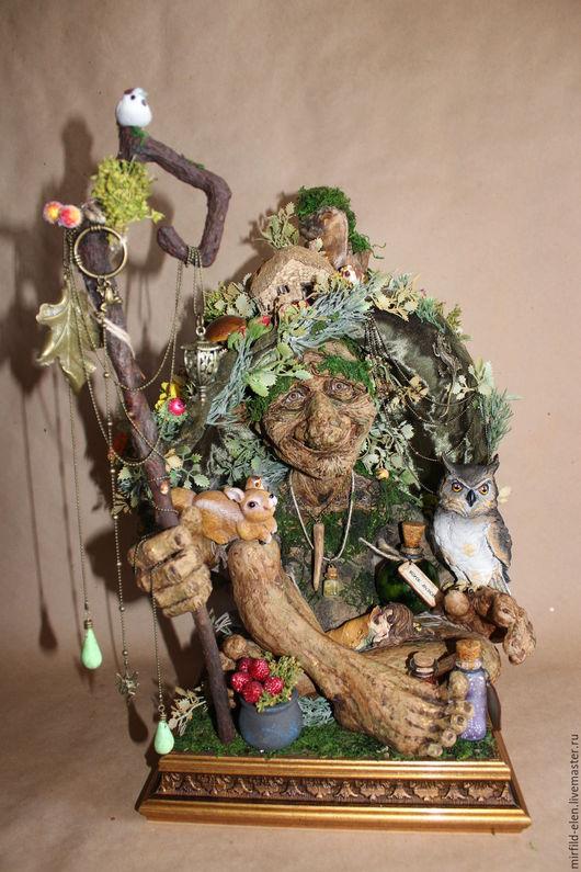 Сказочные персонажи ручной работы. Ярмарка Мастеров - ручная работа. Купить Леший. Handmade. Тёмно-зелёный, папье-маше