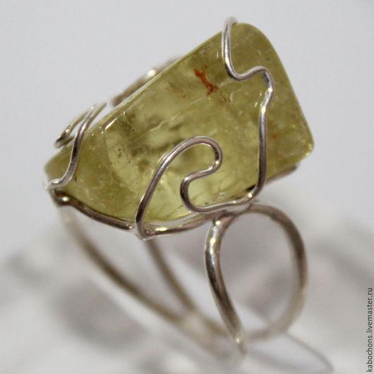 """Кольца ручной работы. Ярмарка Мастеров - ручная работа. Купить Кольцо """"Сын Солнца"""" Гелиодор. Handmade. Желтый, желтый камень"""
