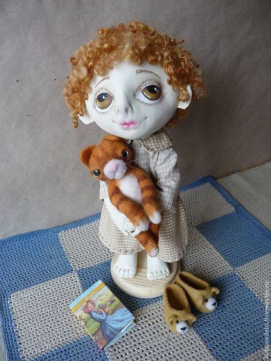 Коллекционные куклы ручной работы. Ярмарка Мастеров - ручная работа. Купить Сказка на ночь...Рыжик...Кукла из грунтованного текстиля. Handmade.