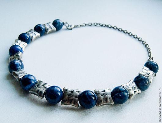 """Колье, бусы ручной работы. Ярмарка Мастеров - ручная работа. Купить Ожерелье """"Синий камень"""" из содалита. Handmade. Синий, колье"""