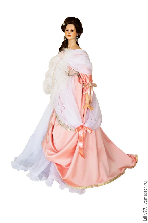 Коллекционные куклы ручной работы. Ярмарка Мастеров - ручная работа. Купить Анастасия. Handmade. Бледно-розовый, кукла интерьерная