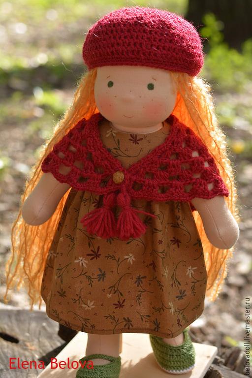 Вальдорфская игрушка ручной работы. Ярмарка Мастеров - ручная работа. Купить Вальдорфская кукла Веснушка. Handmade. Вальдорфская кукла, хаки