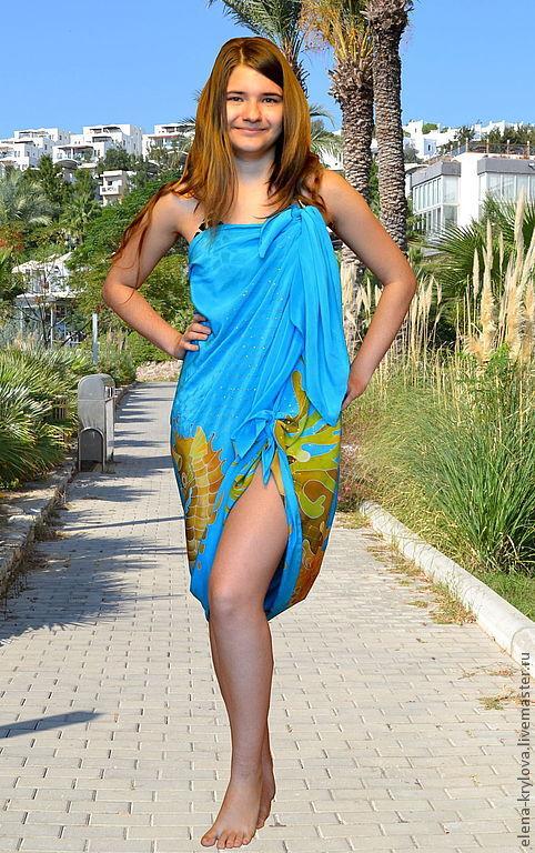 silk pareo batik Sea, Pareos, Ryazan,  Фото №1
