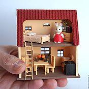 Куклы и игрушки ручной работы. Ярмарка Мастеров - ручная работа Домик Марии в миниатюре (Sylvanian Families). Handmade.
