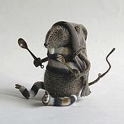 Мягкие игрушки ручной работы. Ярмарка Мастеров - ручная работа Игрушка вязаная крыса. Морской крыс - любитель камбуза. Handmade.