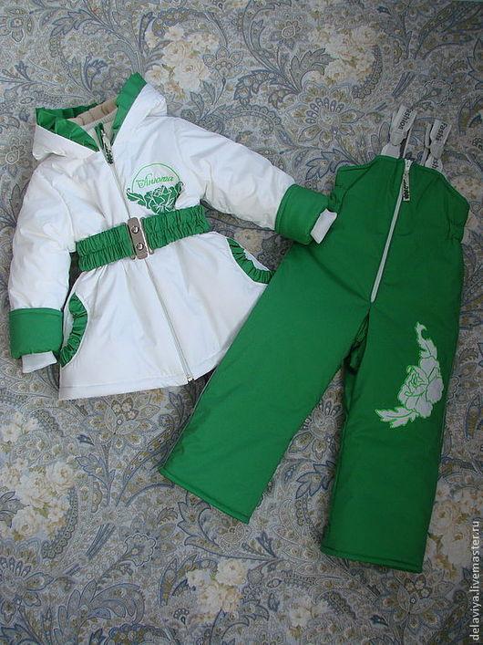 """Одежда для девочек, ручной работы. Ярмарка Мастеров - ручная работа. Купить Зимний мембранный комплект """"Анна"""" именной от Делавьи. Handmade."""