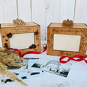 Фотоальбомы ручной работы. Ярмарка Мастеров - ручная работа Фотобокс, на 4 альбома.. Handmade.
