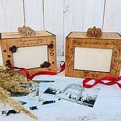 handmade. Livemaster - original item Photo albums: Photobox, for 4 albums.. Handmade.