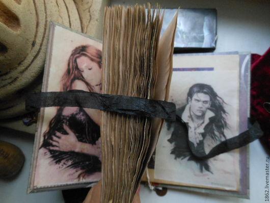 """Блокноты ручной работы. Ярмарка Мастеров - ручная работа. Купить """"Про счастье 2"""" старинный блокнот.. Handmade. сердце, аксессуары"""