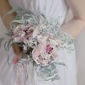 Свадебный салон ручной работы. Ярмарка Мастеров - ручная работа Свадебный букет невесты. Цветы из шелка.. Handmade.