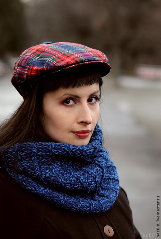 Кепки ручной работы. Ярмарка Мастеров - ручная работа. Купить Клетчатая красно-синяя кепка унисекс. Handmade.
