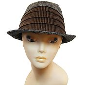 Винтаж handmade. Livemaster - original item Gray-brown hat-Trilby